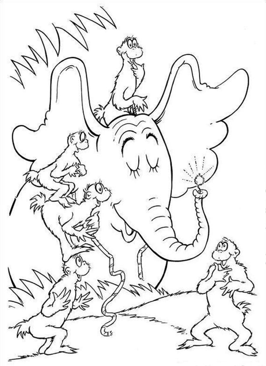 Dr suess coloring pages to download