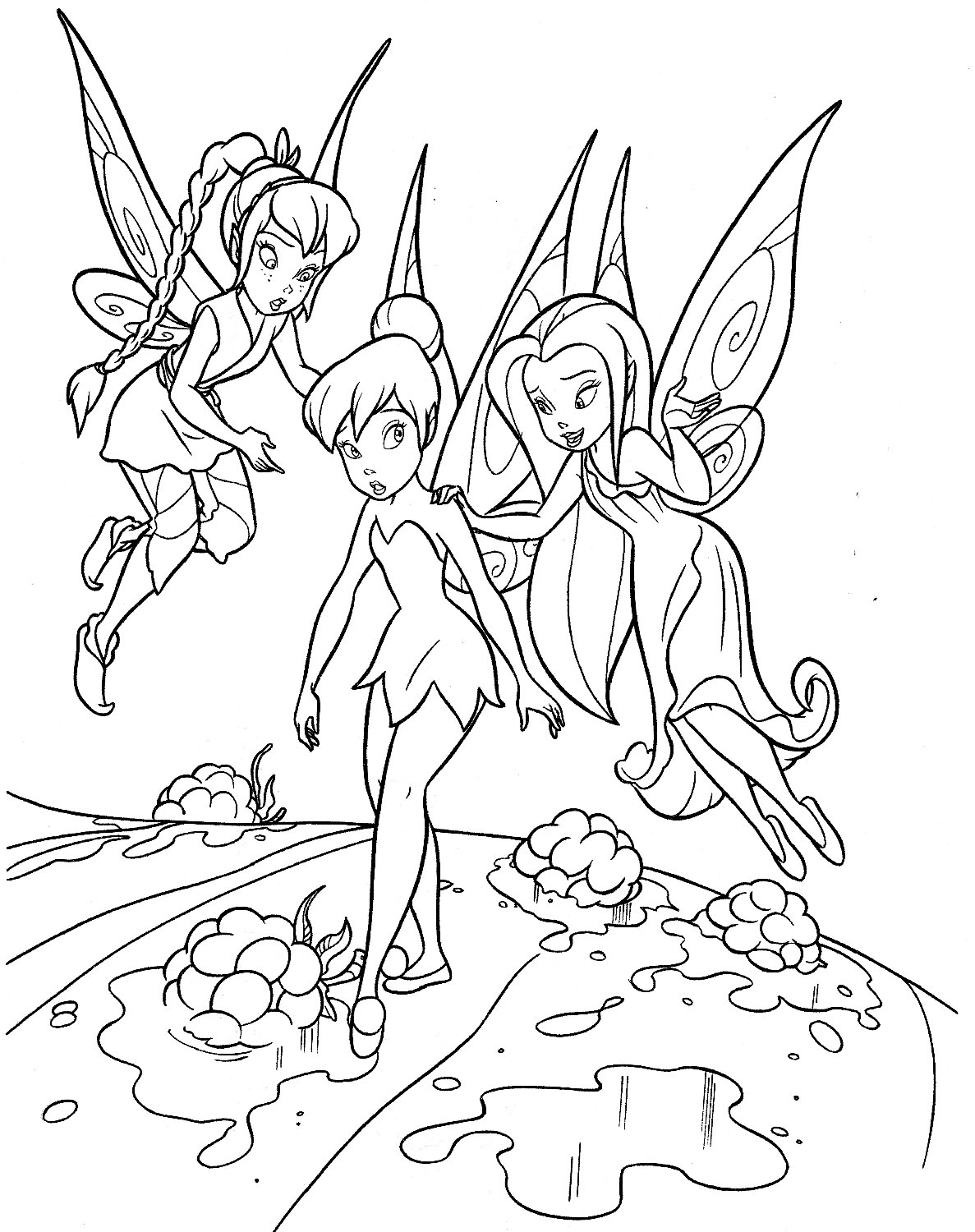 Worksheet. Printable Coloring Pages Tinkerbell