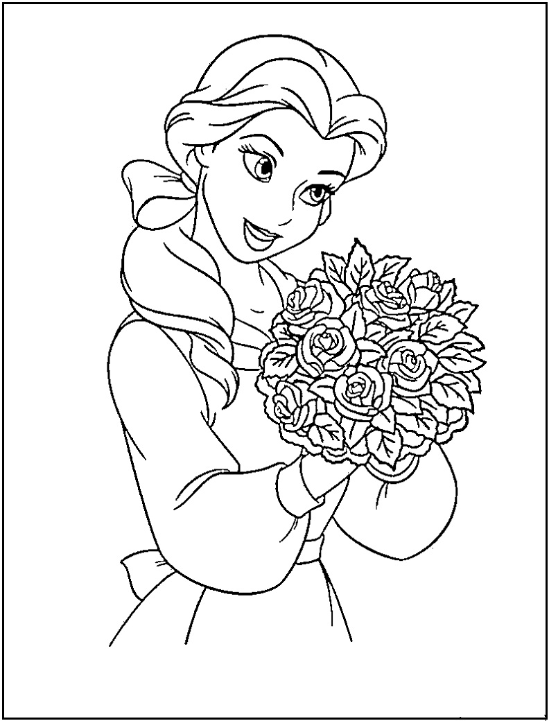 Disney princess coloring pages to print to download and print for free