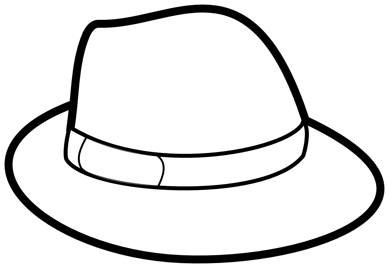 Hat Coloring Pages Preschool