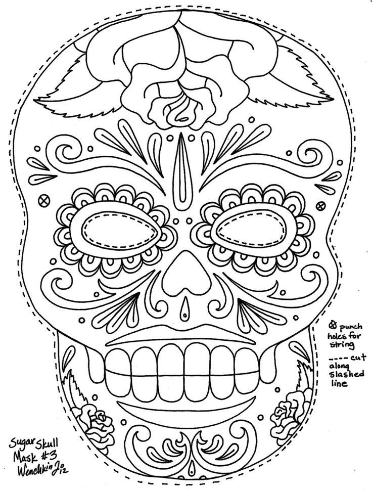 dia de los muertos coloring pages to download and print for free - De Los Muertos Coloring Pages