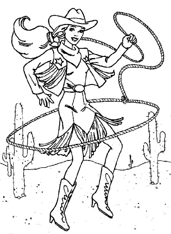 cowgirl princess coloring pages - photo#2