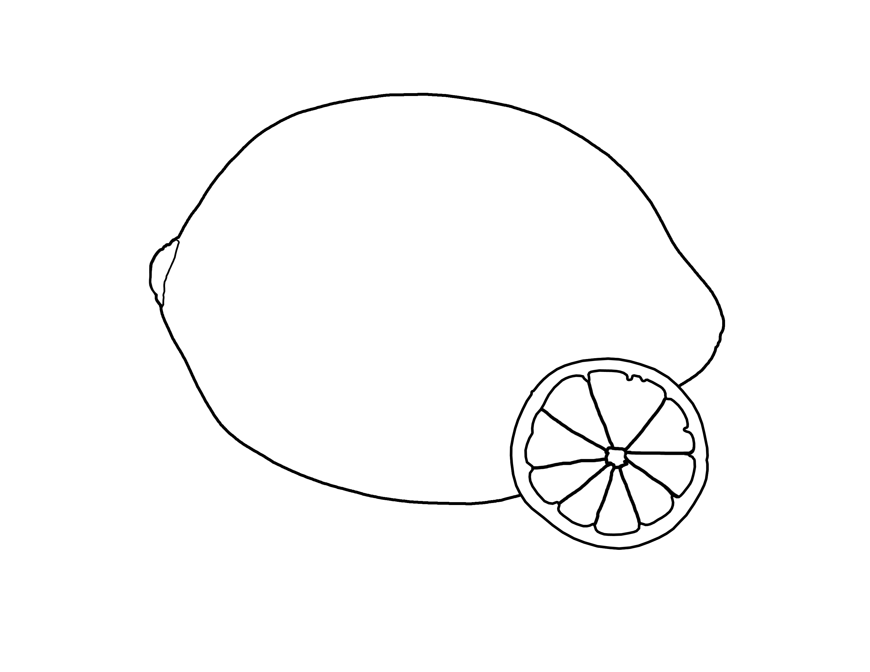 It is a graphic of Peaceful Lemon Coloring Page