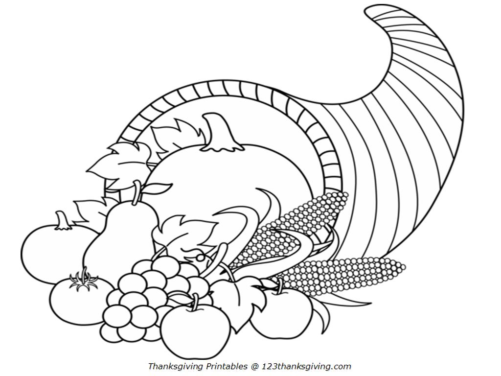 preschool thanksgiving coloring pages corn - photo#45