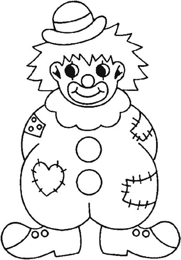 clown party circus coloring pages - photo#35