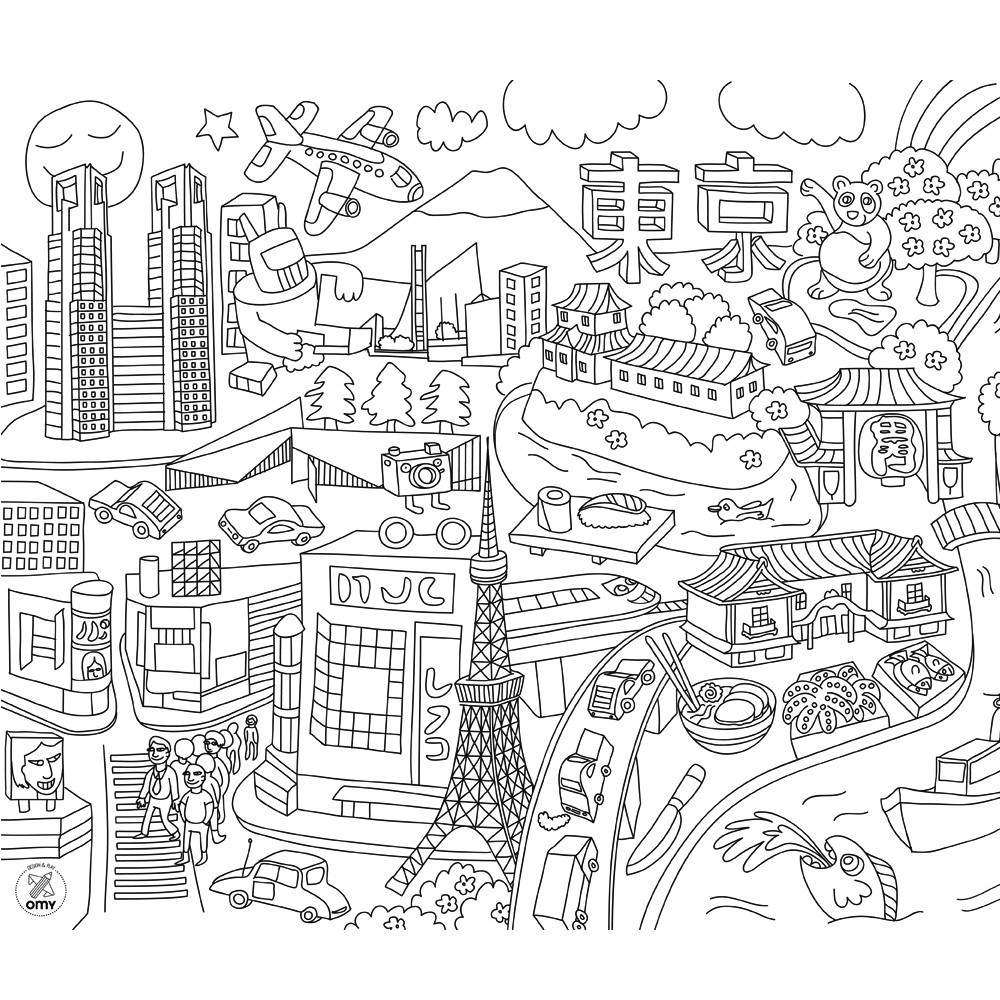 Free Coloring Pages Of Sheep In The Big City