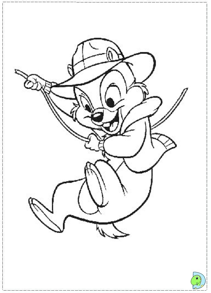 Chip And Dale Coloring Pages To Download And Print For Free