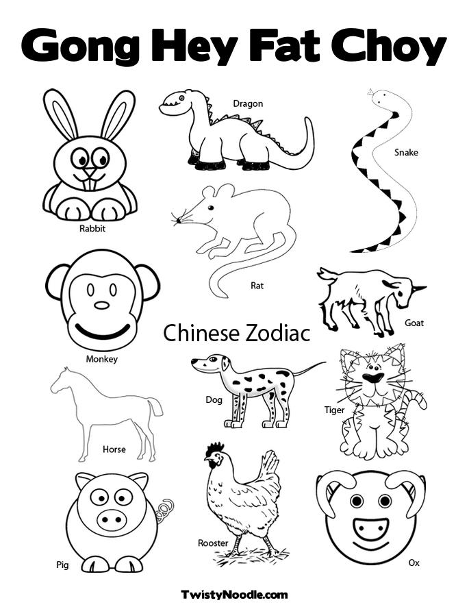 It's just a picture of Dynamic free chinese new year coloring pages