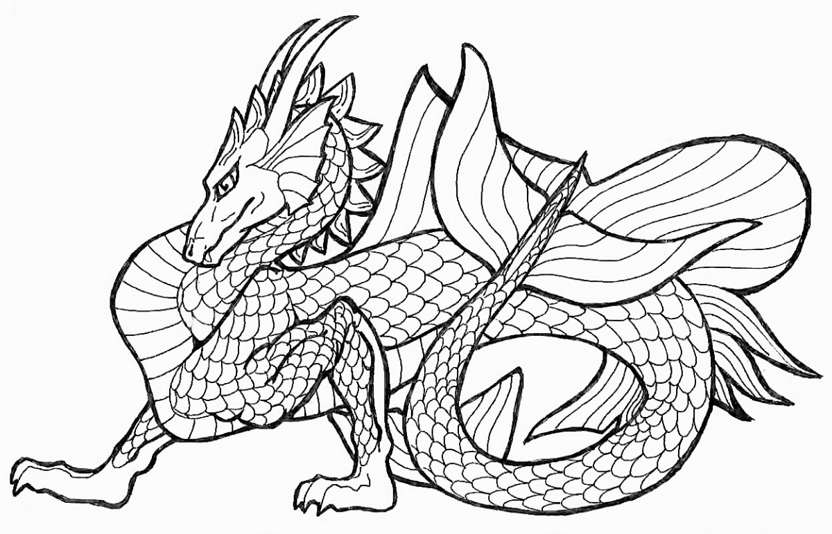dragon coloring pages for adults - Printable Coloring Pages Kids