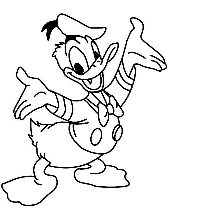 Donald Duck Coloring Pages To Download And Print For Free Baby Donald Duck Coloring Pages