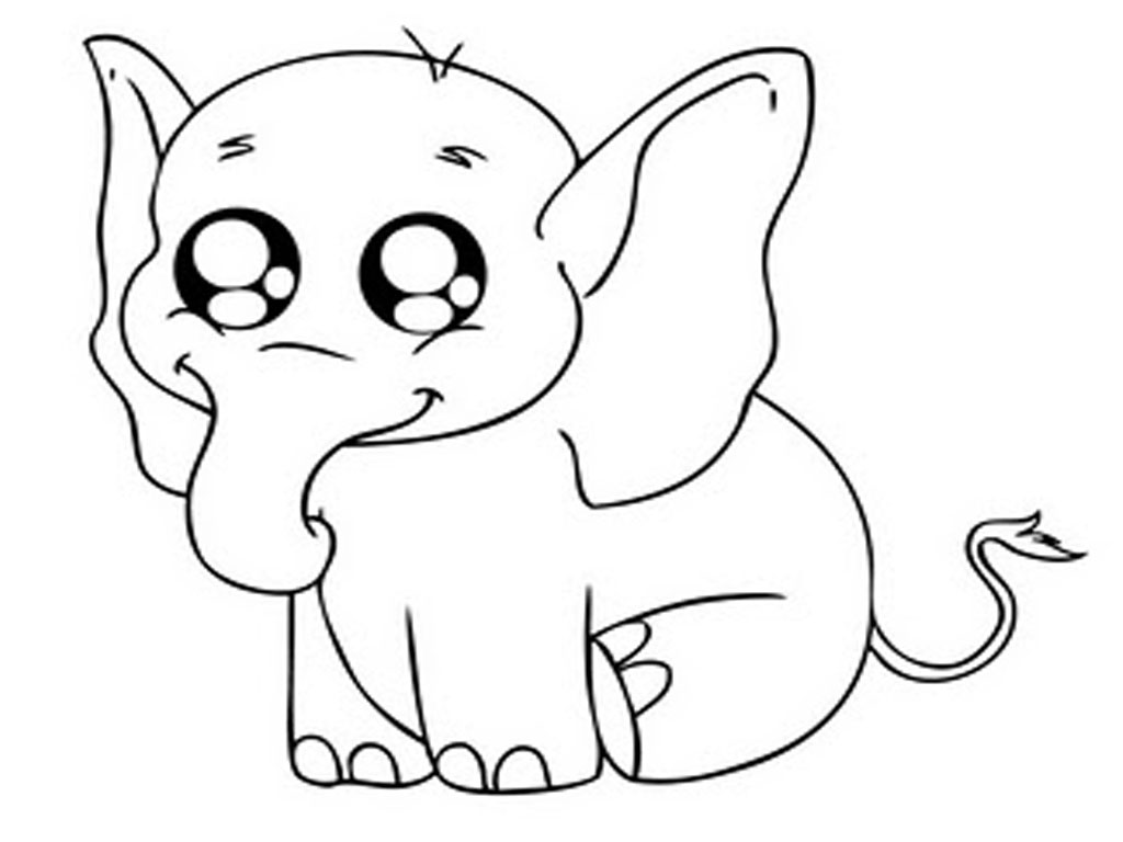 baby elephant coloring pages print - photo#8