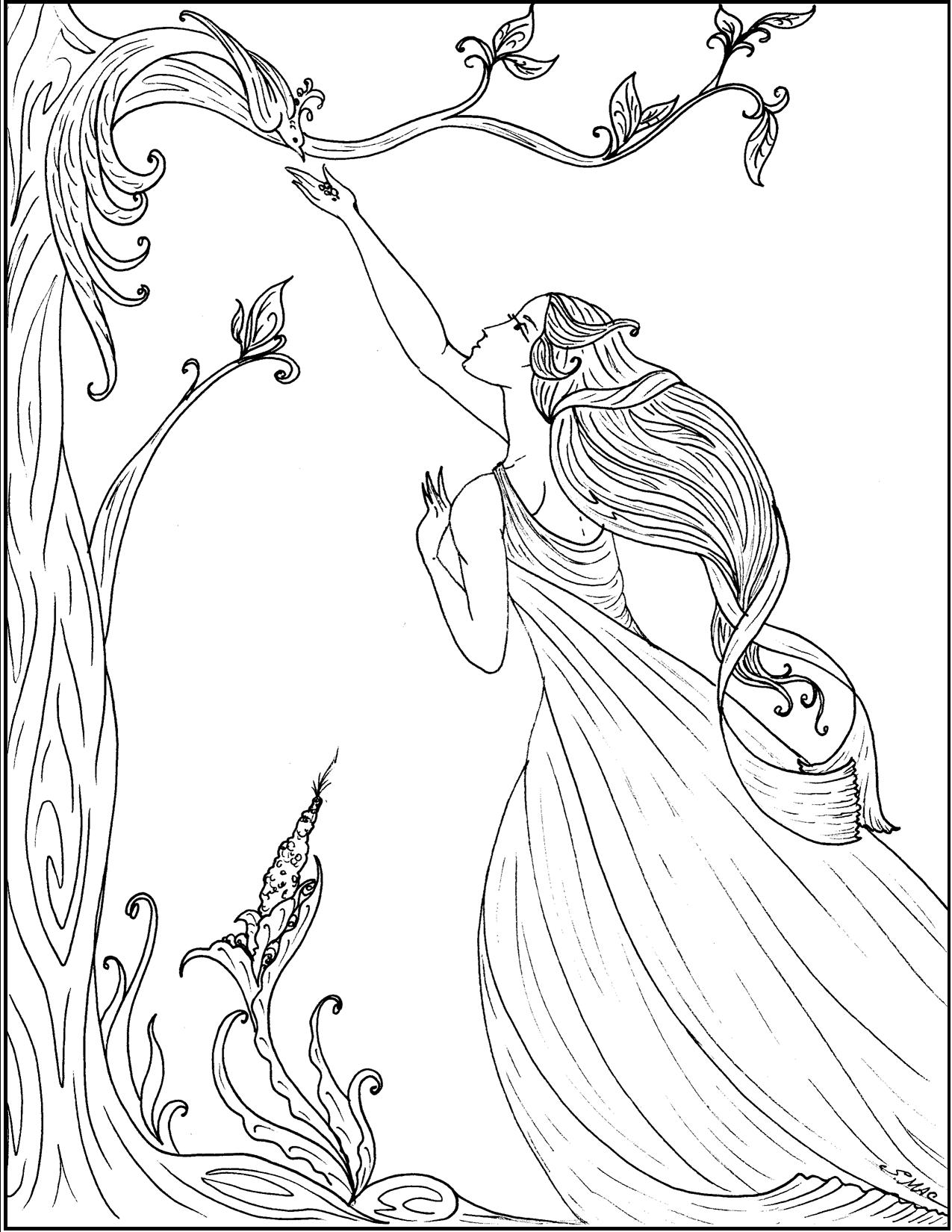 Art nouveau coloring pages to download and print for free