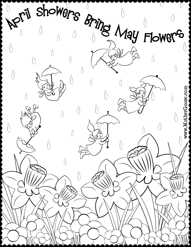 free april coloring pages - photo#11