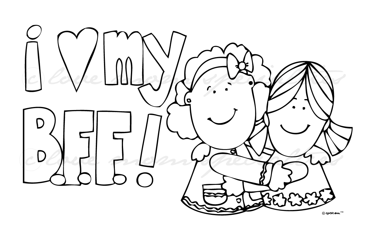 my friends coloring pages - photo#19