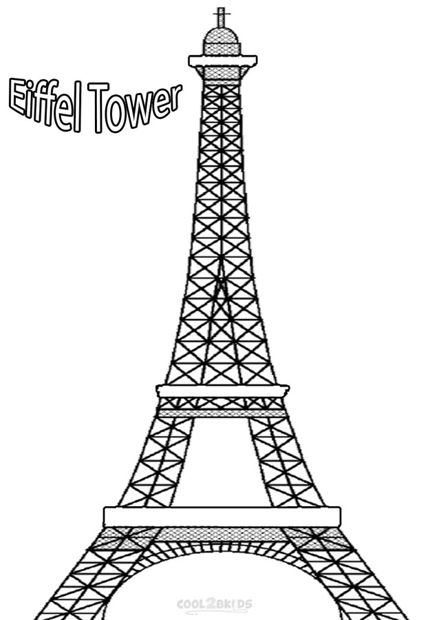 Paris Coloring Book : Paris eiffel tower coloring pages download and print for free