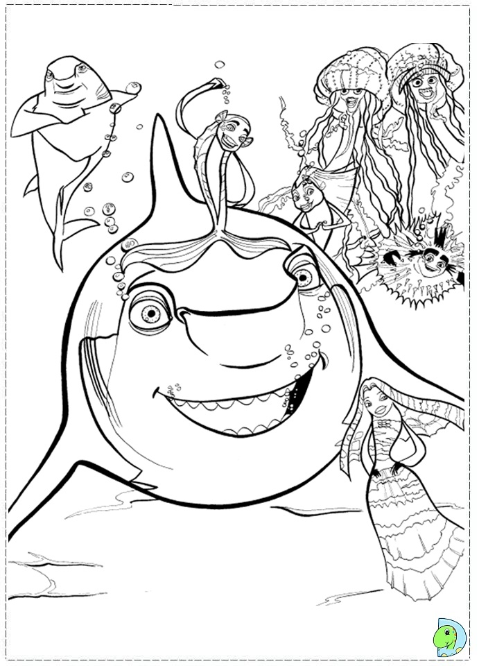 disney shark tale coloring pages - photo #2