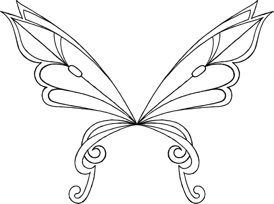 Fairy wing coloring pages download and print for free