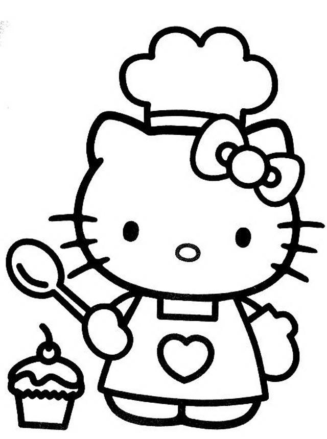 Cool hello kitty coloring pages download and print for free