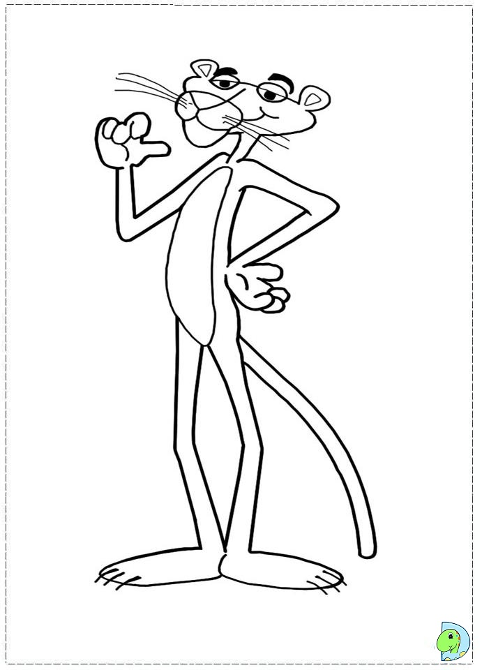 Pink Panther Cartoon Coloring Pages Download And Print For