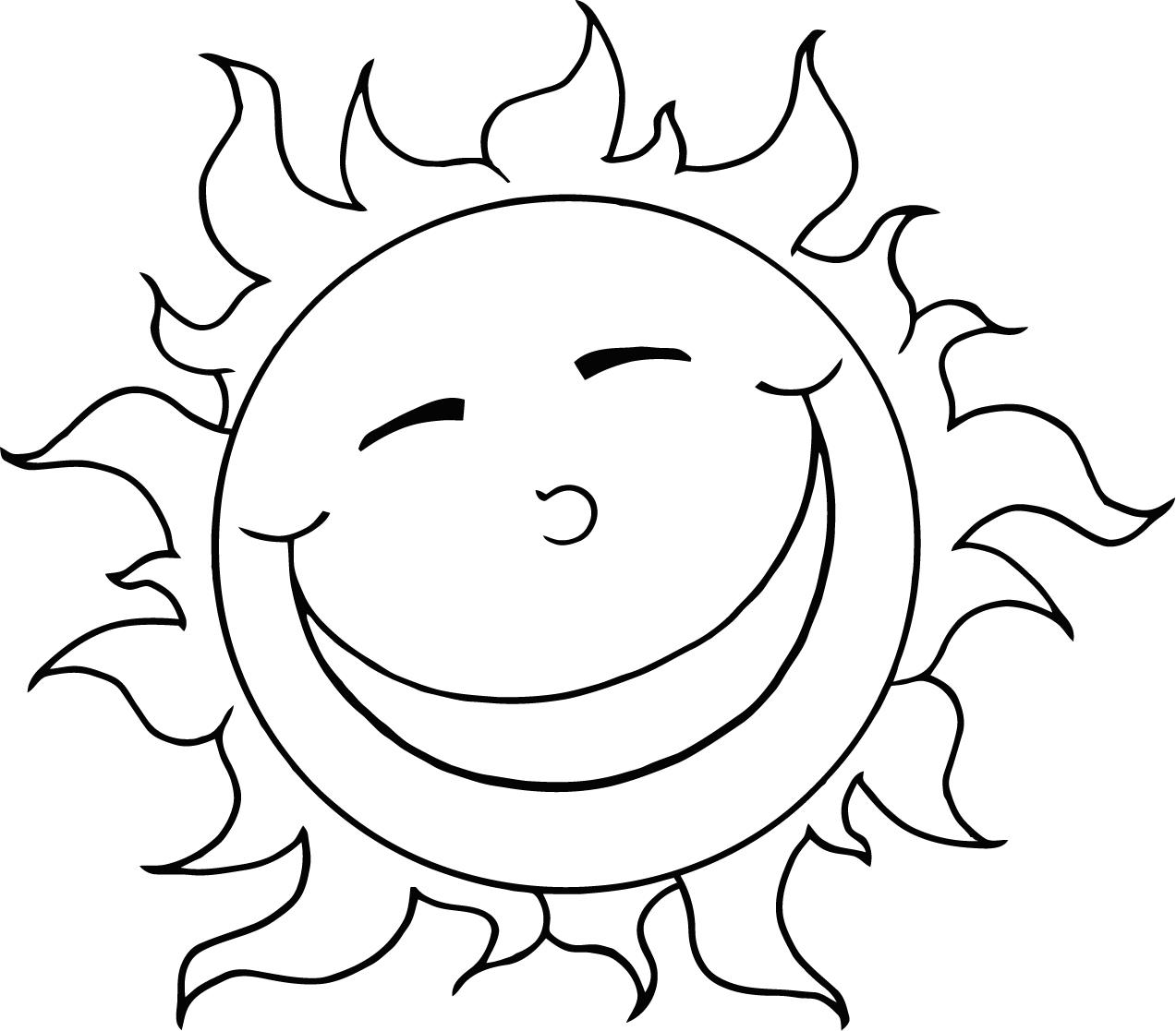 Sun coloring pages to download - 86.4KB