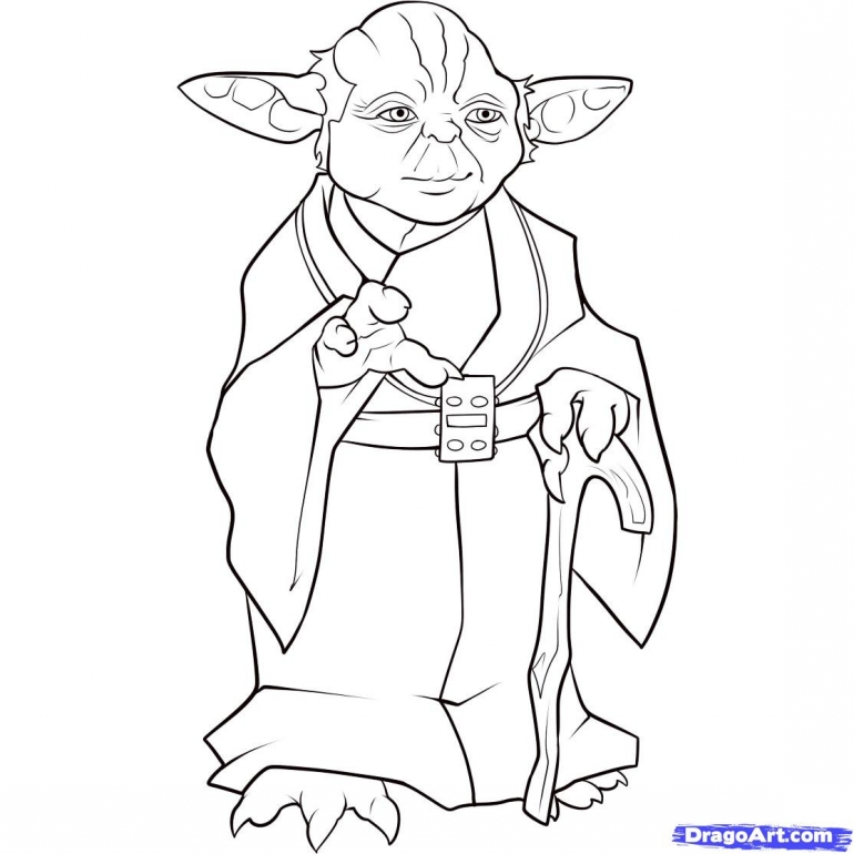 star wars yoda coloring pages download and print for free - Yoda Coloring Pages