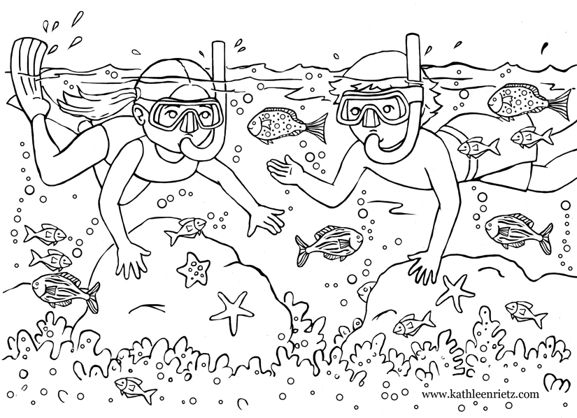 summer coloring book pages - photo#43