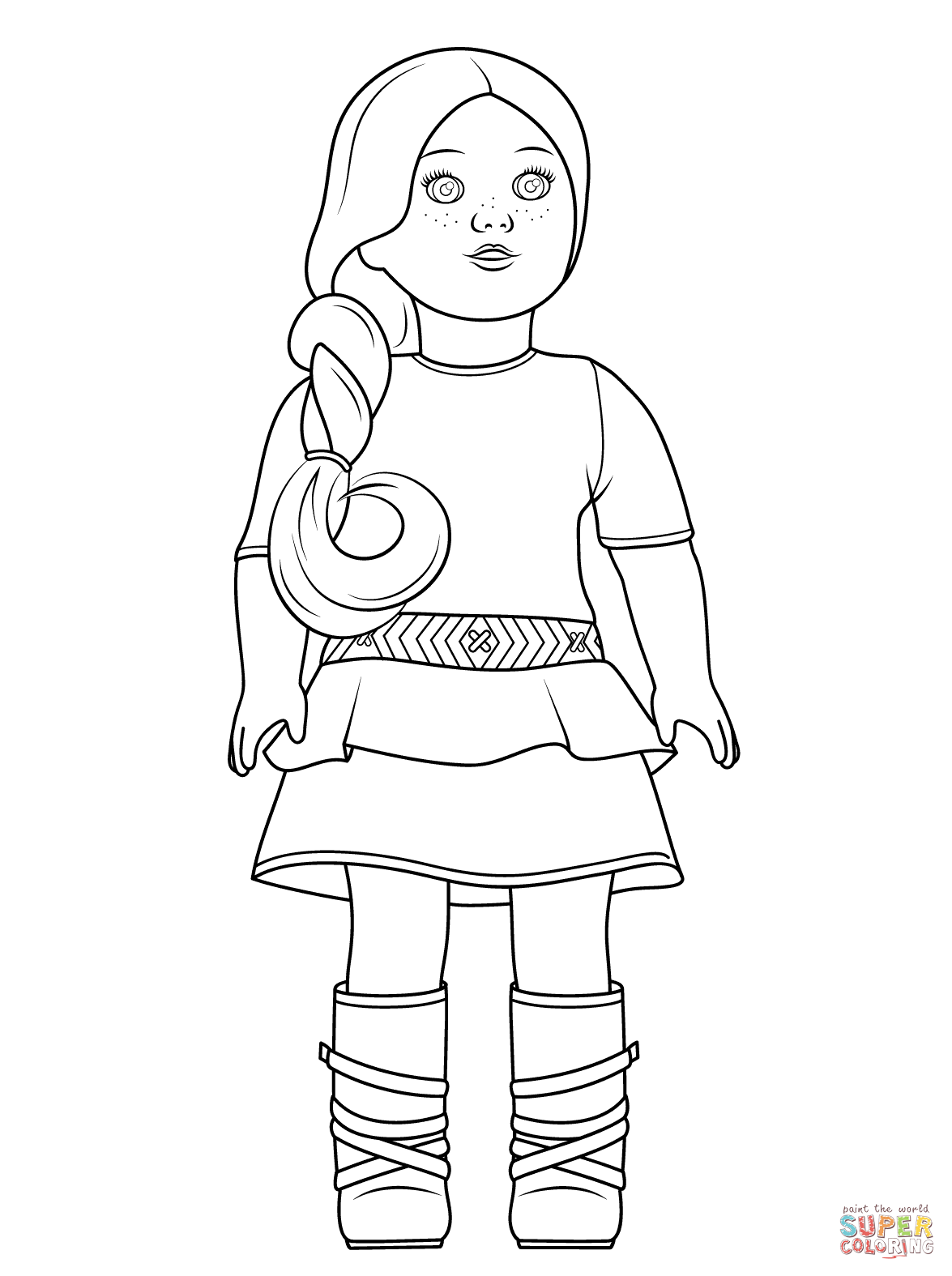 american girl doll coloring pages - Coloring Stuff