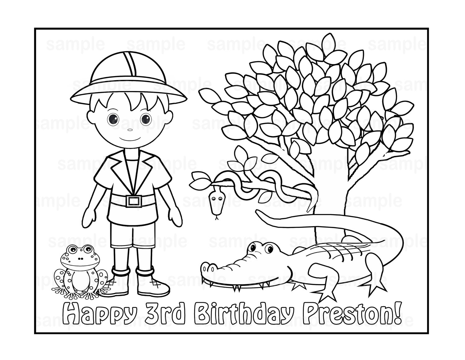 Jungle Safari Coloring Pages