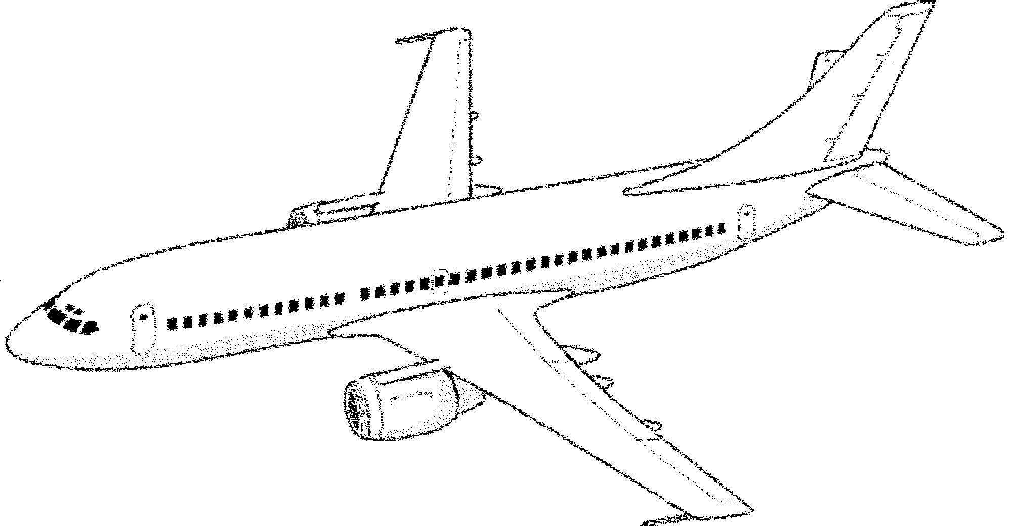 Airplane coloring page...