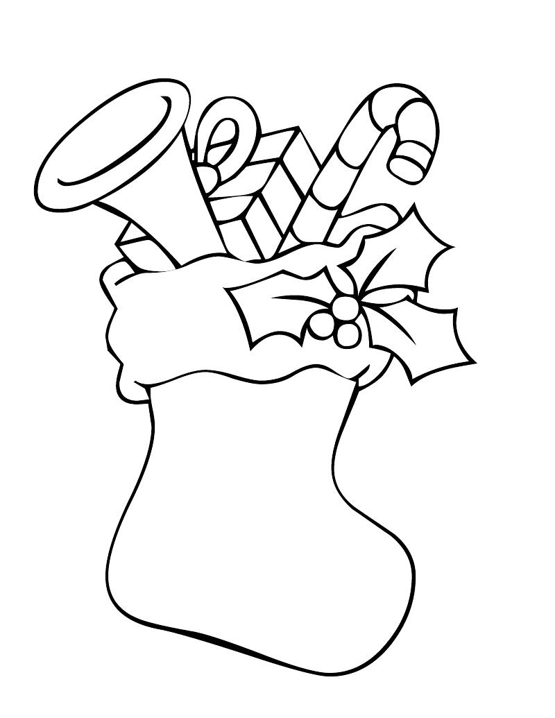 stocking coloring pages download and print for free