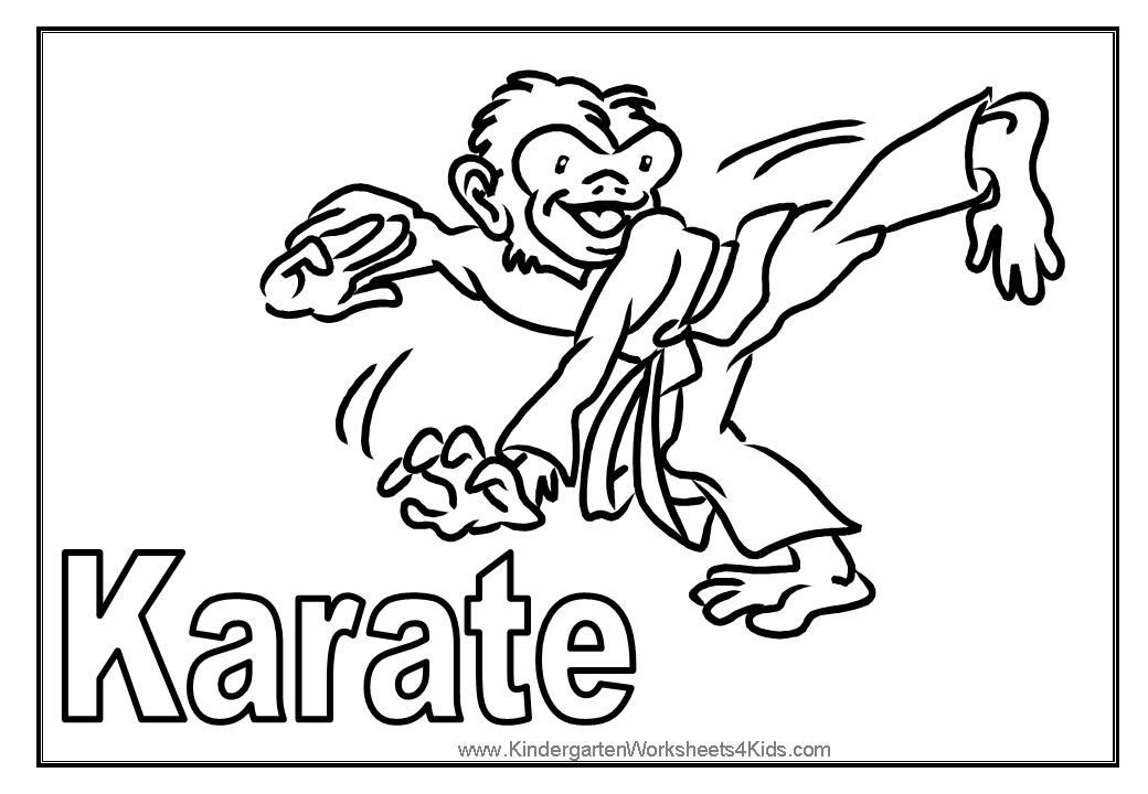 Free Karate Coloring Pages To Print For Kids Download And Color