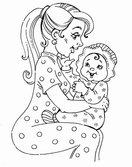 Mother and daughter coloring pages to download and print ...