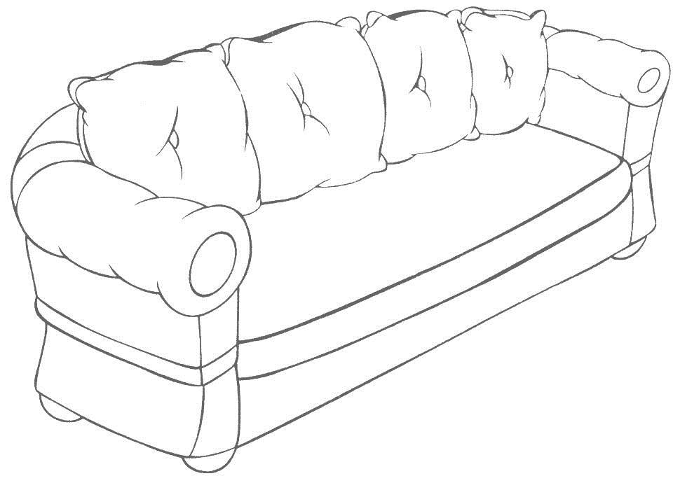 sofa coloring pages - photo#7