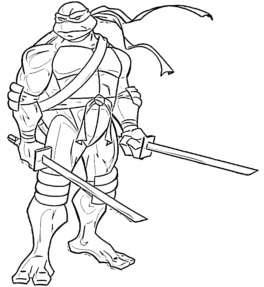 Michelangelo coloring pages to