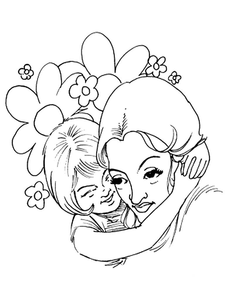 mother daughter coloring pages - photo#22
