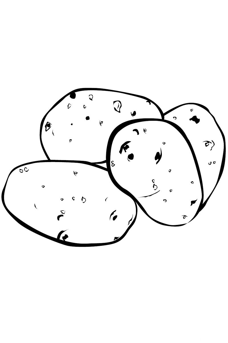 Potatoes coloring pages to download