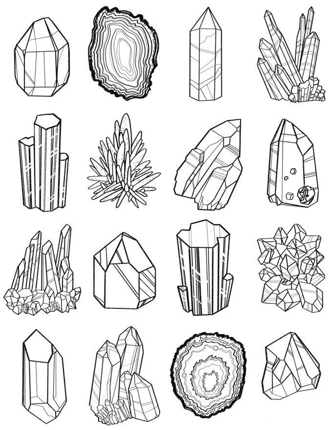precious stones coloring pages to and print for free