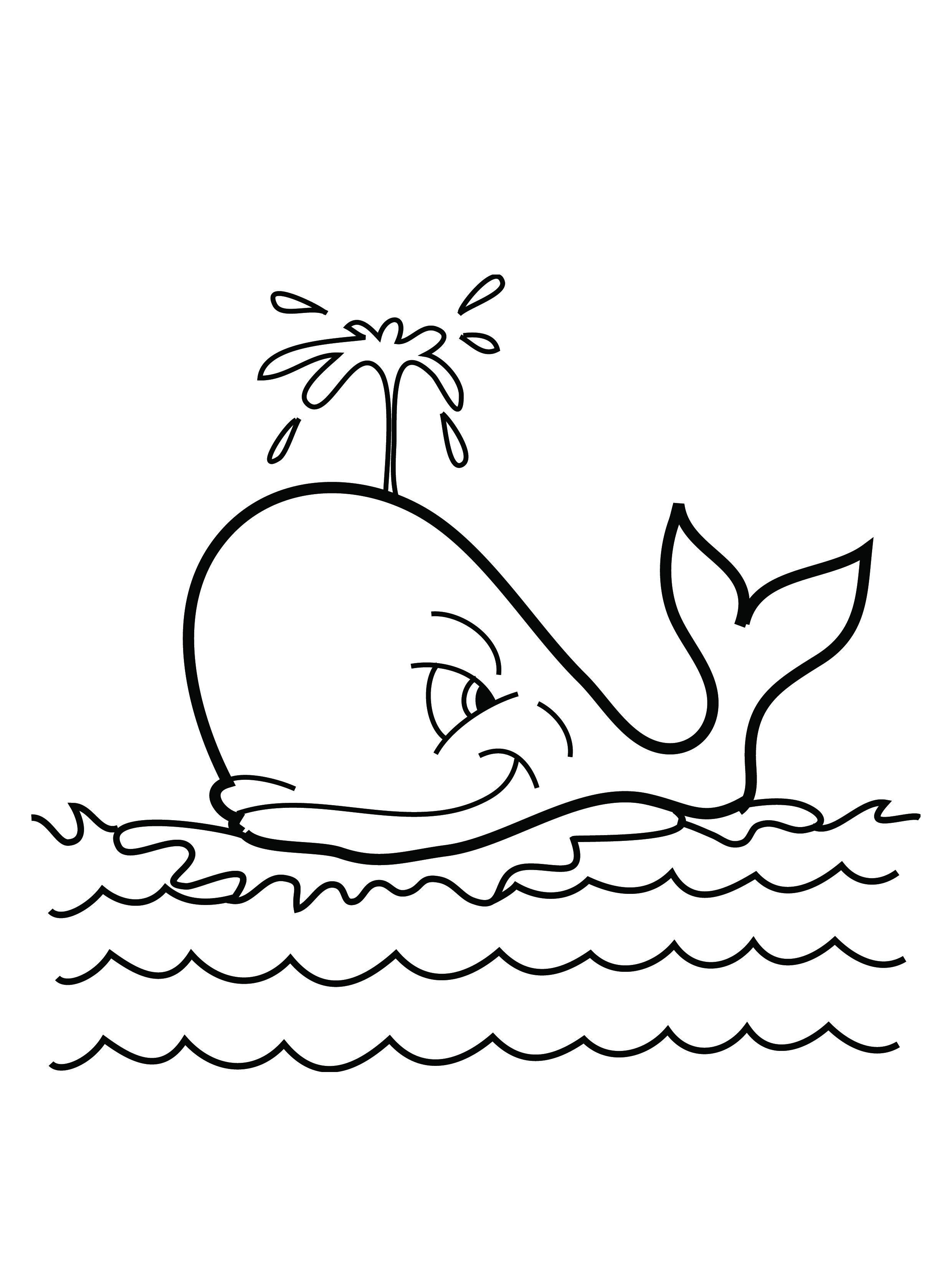 Whale coloring pages to download