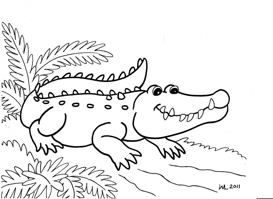 Alligators And Crocodiles Coloring Pages