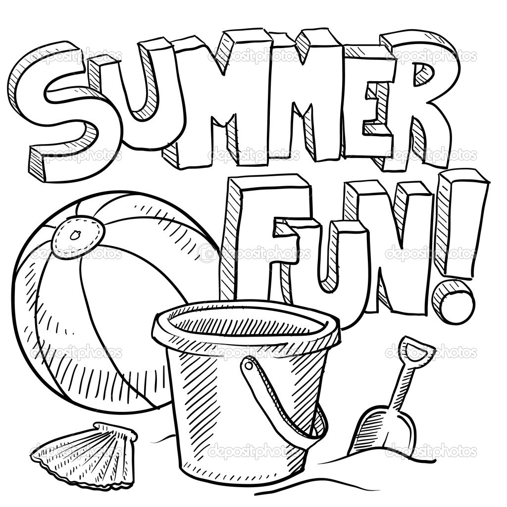 Free coloring pages beach