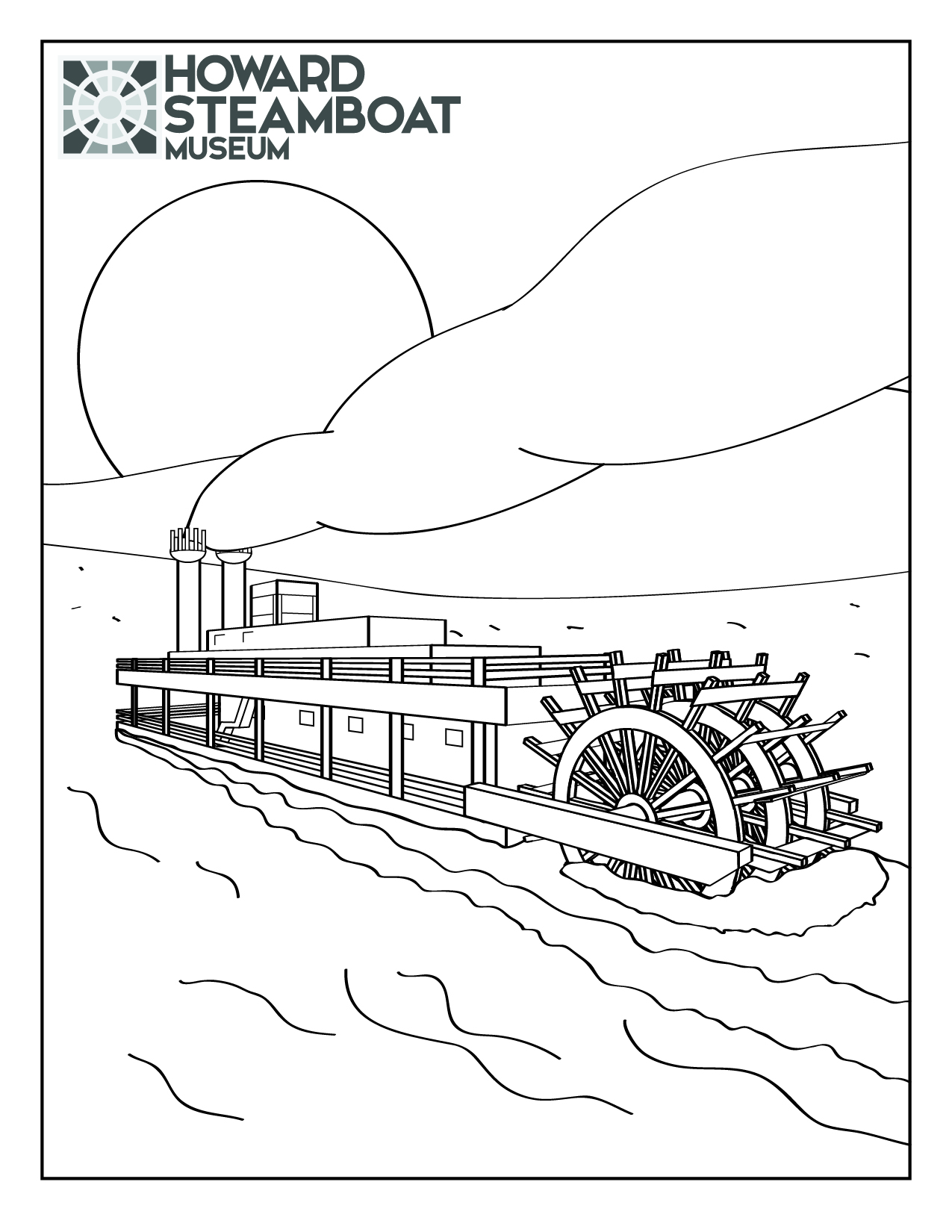 Steamboat coloring pages download