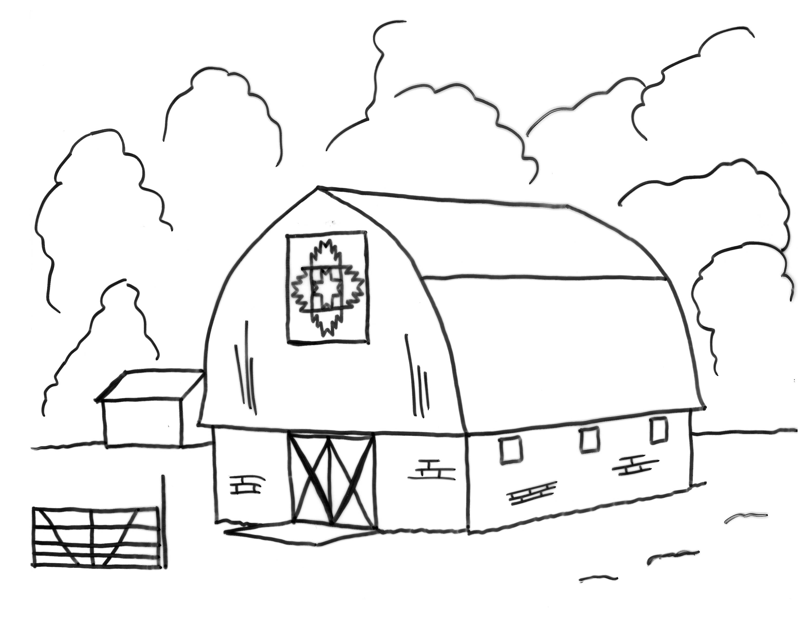 barn coloring pages for kids - photo#11