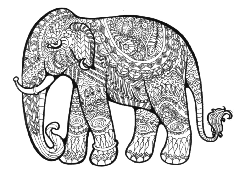 Coloring Book Patterns : Pattern animal coloring pages download and print for free