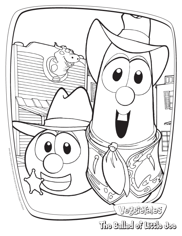 Veggie tales coloring pages download