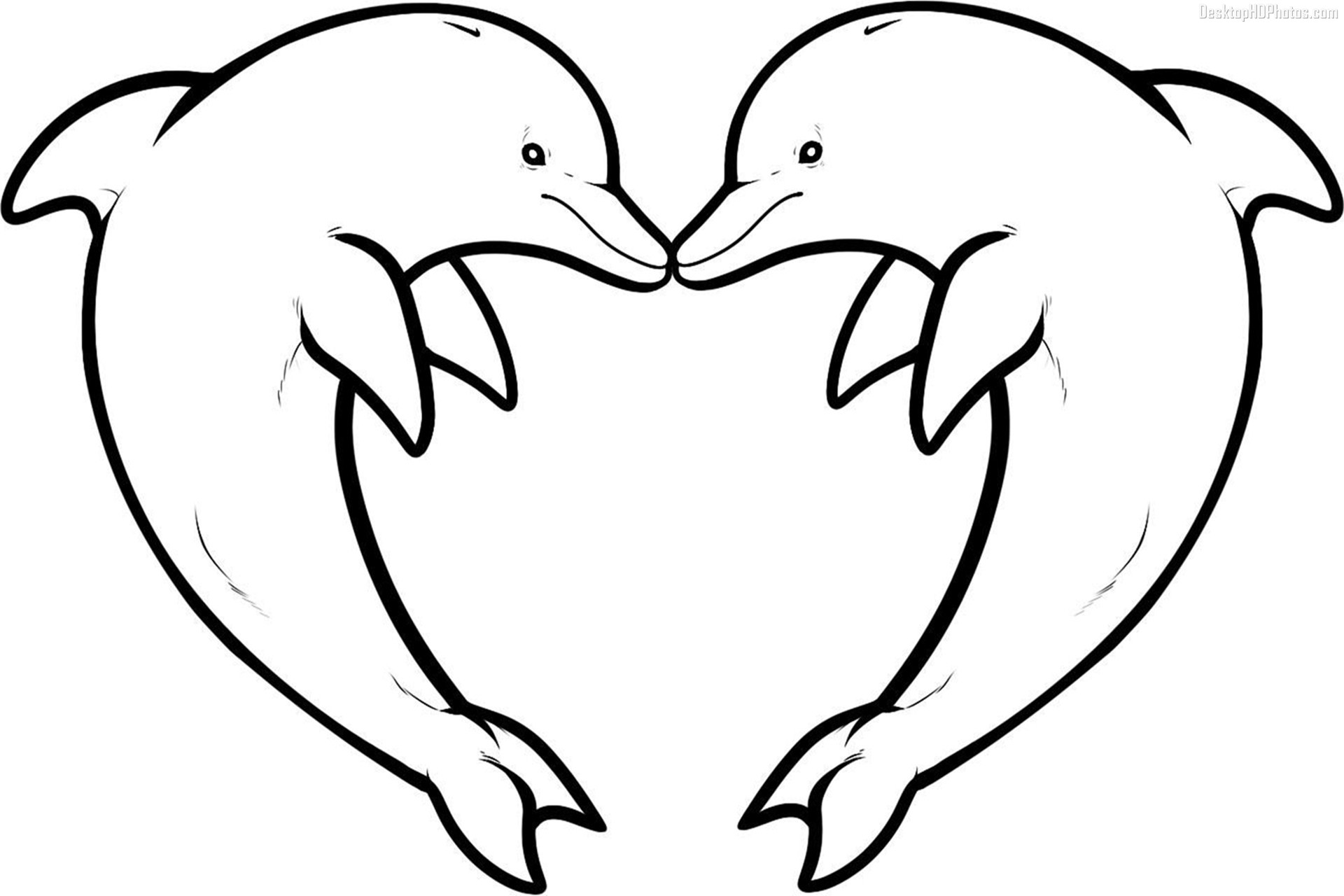 love dolphin coloring pages - photo#3