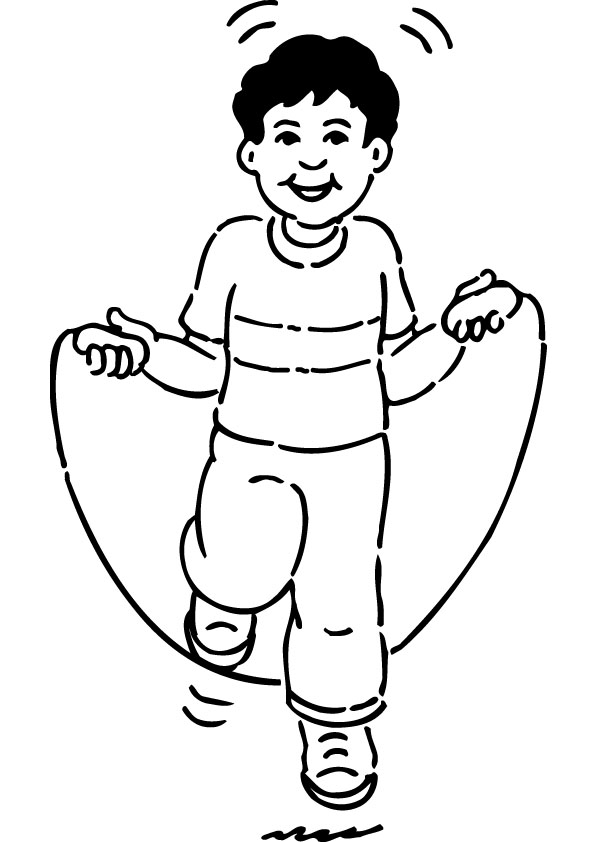 Jump rope coloring pages download and print for free