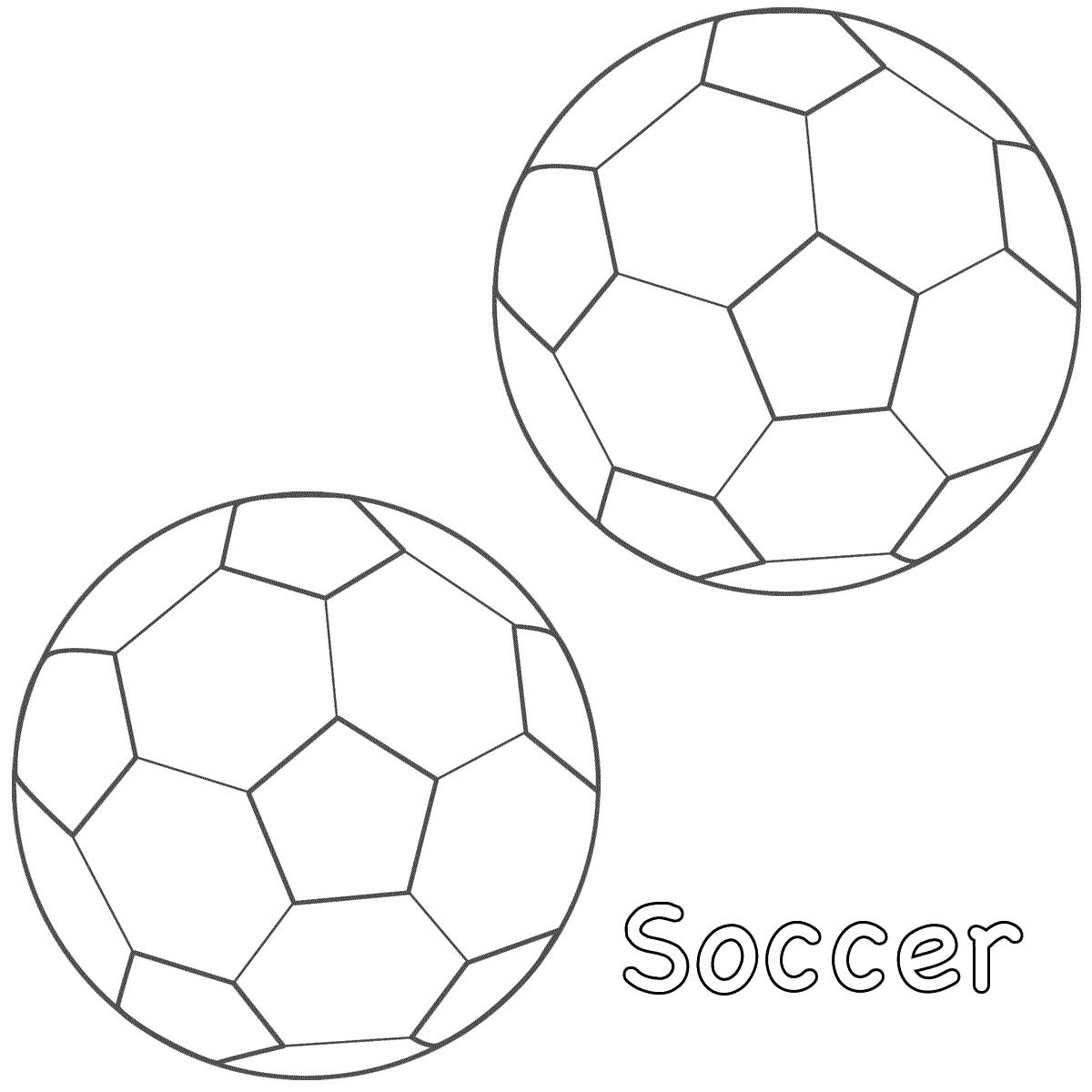 It is a photo of Fabulous Soccer Ball Coloring