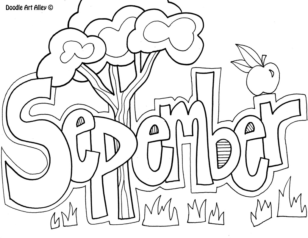 September coloring pages to download