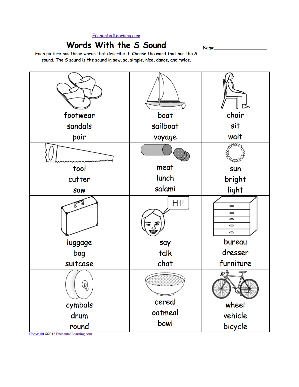 S Sound Coloring Sheets | Coloring Pages