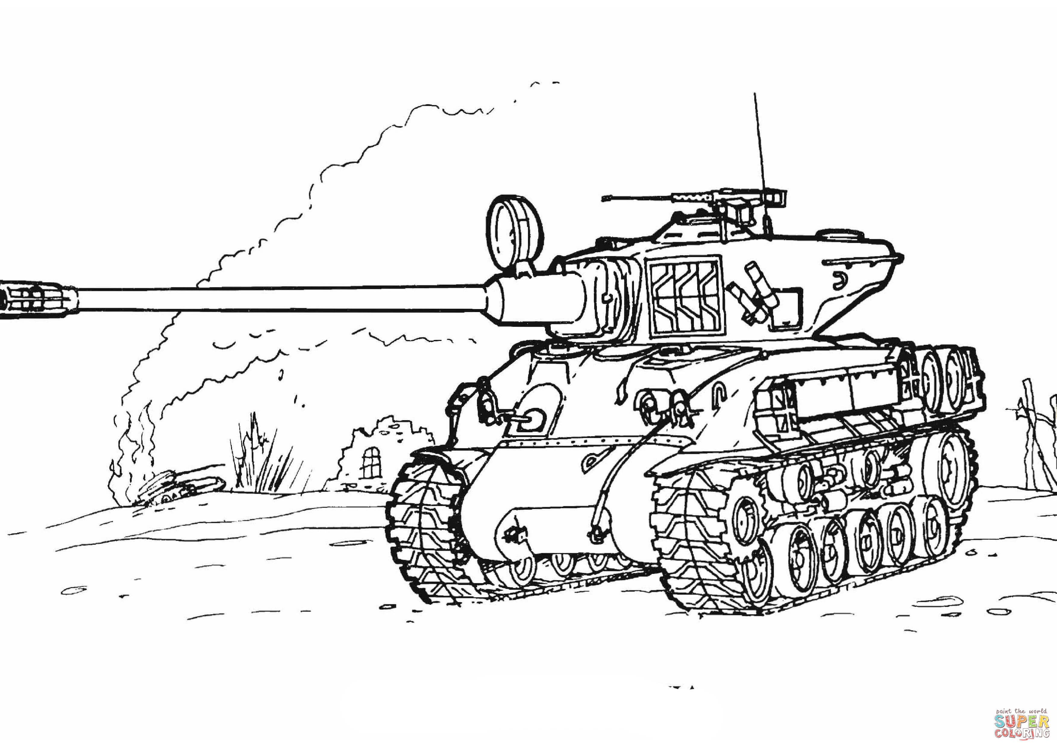 Free coloring pages army tanks - Army Tanks Coloring Pages